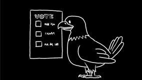 De Amerikaanse 2D Animatie van Eagle Voting Drawing vector illustratie