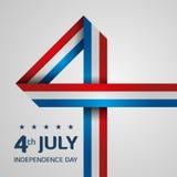De Amerikaanse Dag van de Onafhankelijkheid Stock Foto