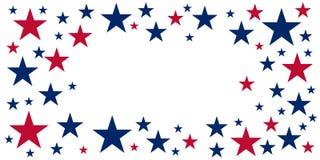 De Amerikaanse Dag van de Onafhankelijkheid 4 Juli Malplaatjeachtergrond voor groetkaarten, affiches, pamfletten en brochure Vect stock illustratie