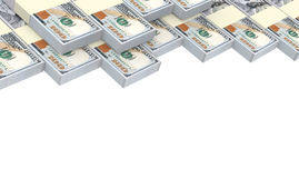 De Amerikaanse dollar factureert stapelsachtergrond Royalty-vrije Stock Foto