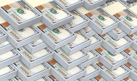De Amerikaanse dollar factureert stapelsachtergrond Stock Afbeelding
