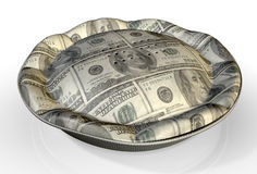 De Amerikaanse dollar van de geldpastei Royalty-vrije Stock Fotografie