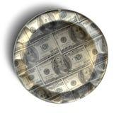 De Amerikaanse dollar van de geldpastei Stock Foto