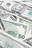 De Amerikaanse dollarrekeningen, sluiten omhoog Royalty-vrije Stock Foto's
