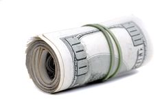 De Amerikaanse Dollars die van het contant geldgeld Rijkdomrijkdom en Inves vertegenwoordigen stock fotografie