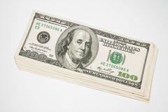 De Amerikaanse 100 dollars van de V.S. Royalty-vrije Stock Afbeelding