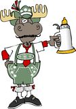 De Amerikaanse elanden van Oktoberfest stock illustratie