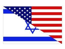 De Amerikaanse en vlaggen van Israël stock illustratie