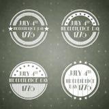 De Amerikaanse etiketten van de Onafhankelijkheidsdag Royalty-vrije Stock Foto