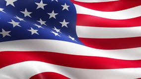 De Amerikaanse golvende vlag van de V.S. vector illustratie