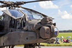 De Amerikaanse grote handboog van AH 64 apache op de lucht van Berlijn toont Royalty-vrije Stock Fotografie