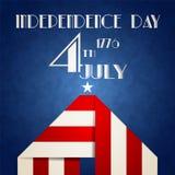 De Amerikaanse illustratie van de Onafhankelijkheidsdag Stock Afbeelding