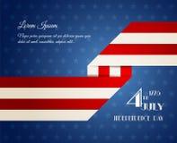 De Amerikaanse illustratie van de Onafhankelijkheidsdag Royalty-vrije Stock Foto