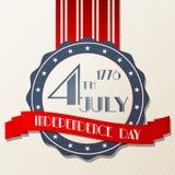De Amerikaanse illustratie van de Onafhankelijkheidsdag Royalty-vrije Stock Afbeelding