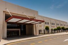 De Amerikaanse Internationale School in de Koning Abdullah University van Wetenschap en Technologiecampus, Thuwal, Saudi-Arabië royalty-vrije stock afbeelding