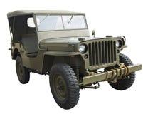 De Amerikaanse Jeep van WO.II dichtbij zijaanzicht Royalty-vrije Stock Foto's