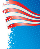 De Amerikaanse kaart van de onafhankelijkheidsdag Stock Foto