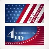 De Amerikaanse kaarten van de Onafhankelijkheidsdag Stock Afbeeldingen