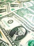 De Amerikaanse macro van de Dollar Royalty-vrije Stock Afbeeldingen