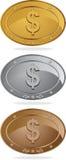 De Amerikaanse Medailles van de Dollar Stock Fotografie