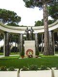 De Amerikaanse Militaire Begraafplaats in Nettuno, Italië stock afbeeldingen