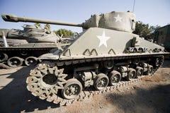 De Amerikaanse Militaire Tank van Sherman van het Museum Stock Afbeeldingen