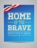 De Amerikaanse patriot van vlagwoorden dag 11 september, 2001 Stock Foto's