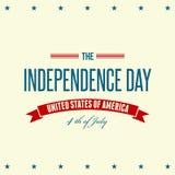 De Amerikaanse Patriottische achtergrond van de Onafhankelijkheidsdag Royalty-vrije Stock Afbeelding