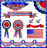 De Amerikaanse patriottische elementen van de V.S. Stock Foto's