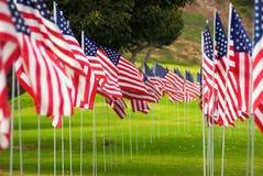 De Amerikaanse Rijen van de Vlag Royalty-vrije Stock Foto