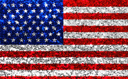 De Amerikaanse stof van de V.S. schittert vlag, fonkelingssterren en strepen royalty-vrije stock foto