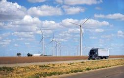 De Amerikaanse Turbines van de Wind Stock Foto's