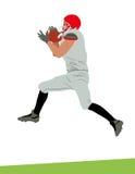De Amerikaanse vangst van de voetbalsterbal vector illustratie