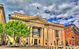 De Amerikaanse Veiligheid en Vertrouwensbedrijfbouw, een Neoklassiek bankbureau in Washington, D C Stock Foto's