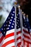 De Amerikaanse Vertoning van de Vlag voor Vakantie Royalty-vrije Stock Foto's