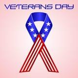 De Amerikaanse viering van de veteranendag in americal kleuren eps10 Stock Afbeelding