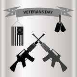 De Amerikaanse viering van de veteranendag in grayscale eps10 Royalty-vrije Stock Afbeelding