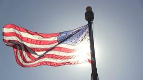 De Amerikaanse Vlag stock videobeelden