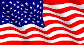 De Amerikaanse Vlag Stock Afbeeldingen