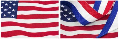 De Amerikaanse vlag kleurt vertoningscollage Stock Afbeelding