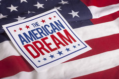 De Amerikaanse vlag van de Droomv.s. Royalty-vrije Stock Afbeeldingen