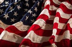 De Amerikaanse vlag van Grunge Stock Fotografie