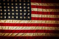 De Amerikaanse vlag van Grunge Stock Foto's
