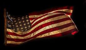 De Amerikaanse vlag van Grunge Royalty-vrije Stock Afbeeldingen