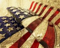 De Amerikaanse vlag van Grunge Stock Foto