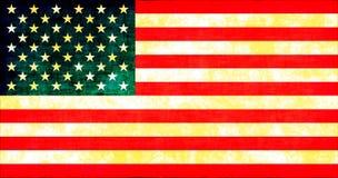 De Amerikaanse Vlag van Grunge vector illustratie