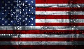 De Amerikaanse vlag van Grunge Stock Afbeelding