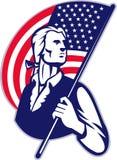 De Amerikaanse Vlag van Minuteman van de patriot stock illustratie