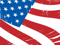 De Amerikaanse Vlagachtergrond betekent Vrijheid royalty-vrije illustratie