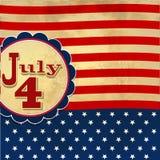 De Amerikaanse vlagachtergrond die met sterren 4 symboliseert juli indepen royalty-vrije illustratie